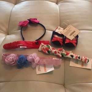 Gymboree headbands and pair of shoes NWOT